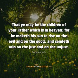 Matthew 5:45