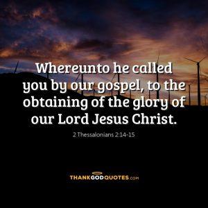 2 Thessalonians 2:14-15