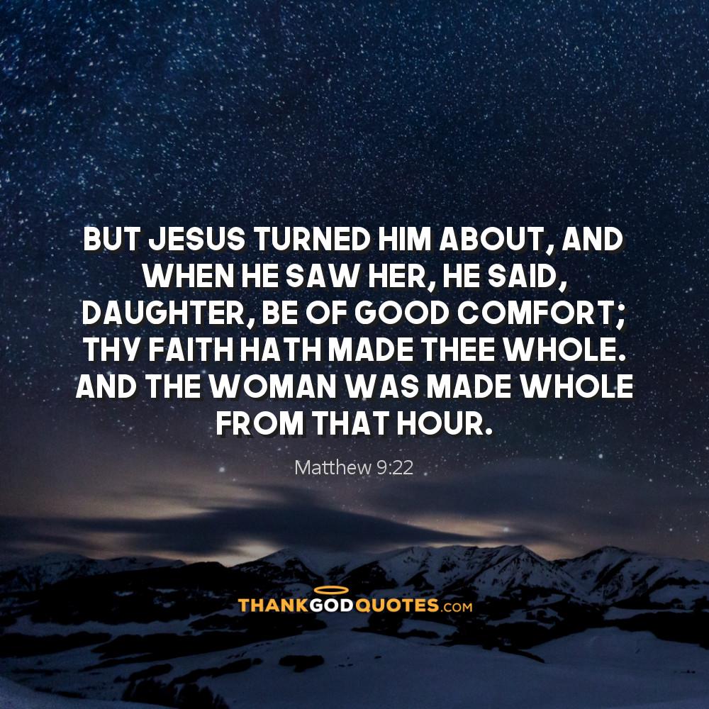 Matthew 9:22