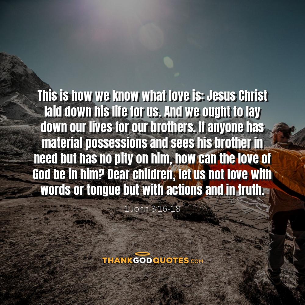 1 John 3:16-18