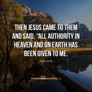 Matt 28:18