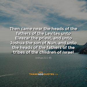 Joshua 21:1-45