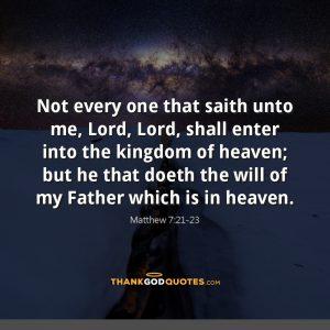 Matthew 7:21-23