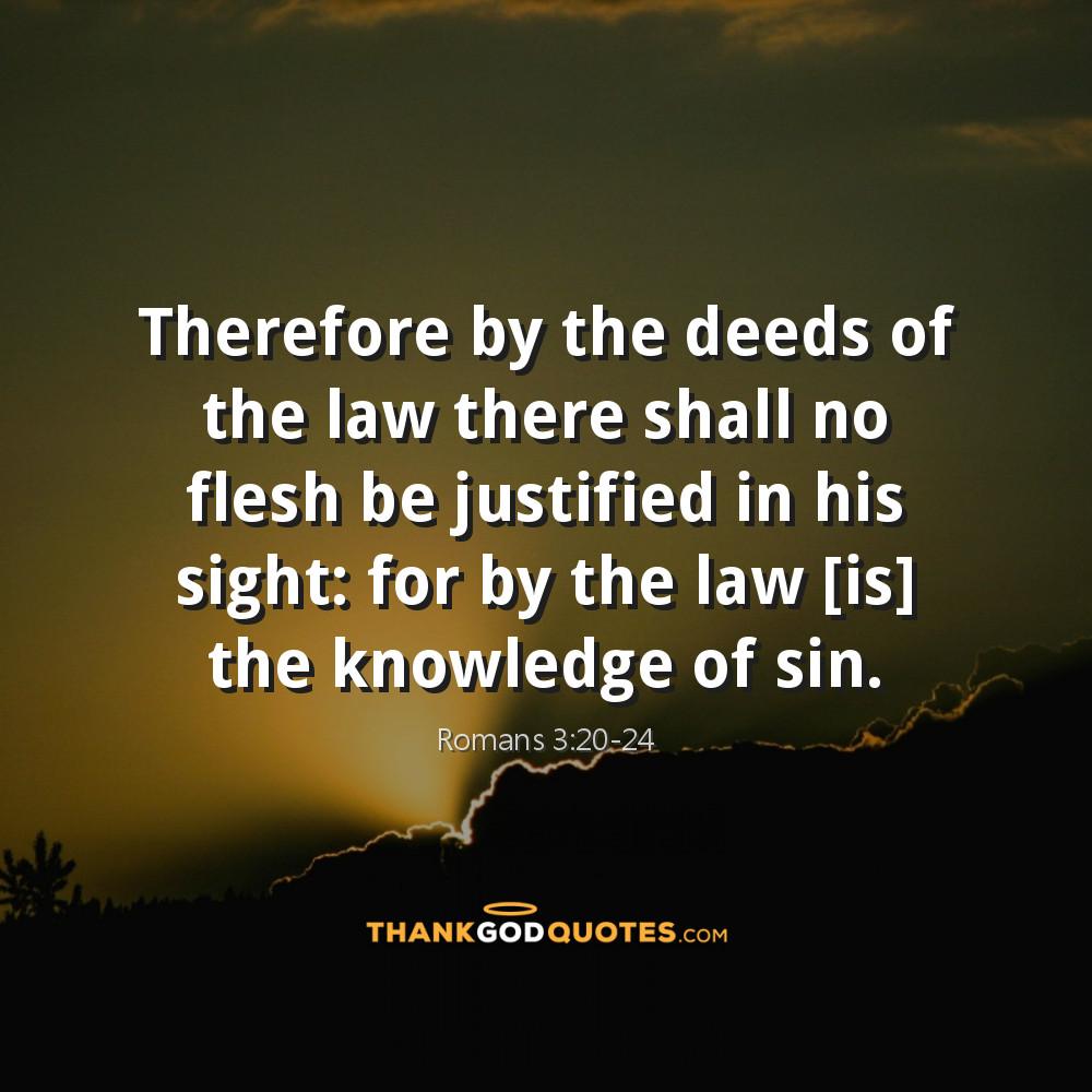 Romans 3:20-24
