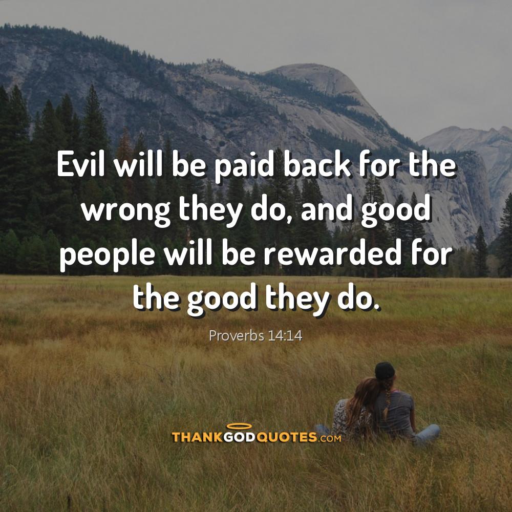 Proverbs 14:14