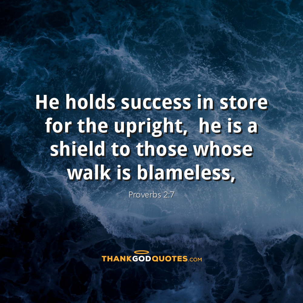 Proverbs 2:7