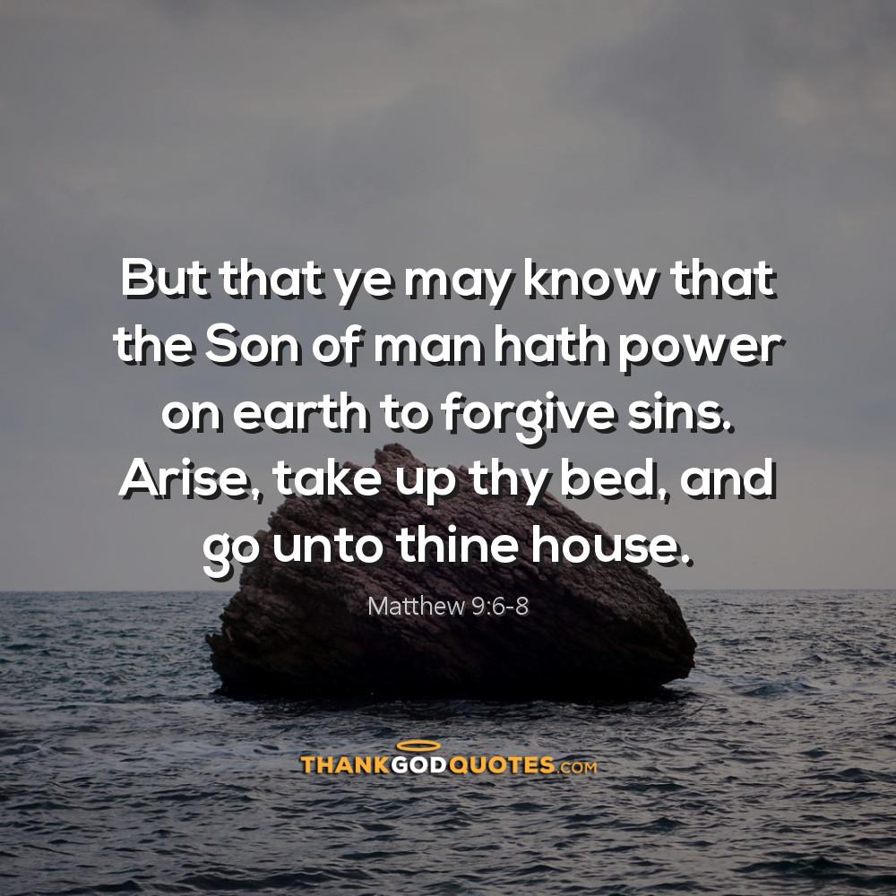 Matthew 9:6-8