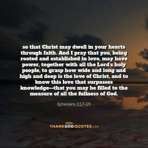 Ephesians 3:17-19