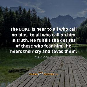Psalm 145:18-19