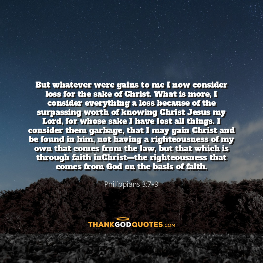 Philippians 3:7-9