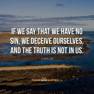 1 John 1:8