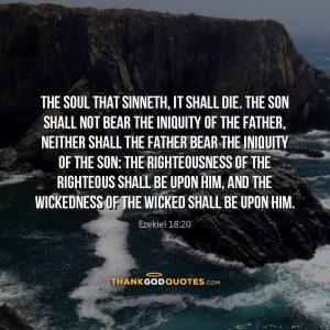 Ezekiel 18:20