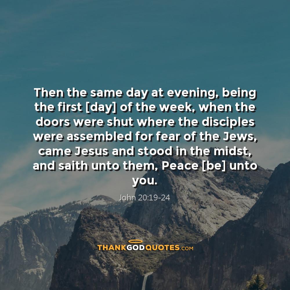 John 20:19-24