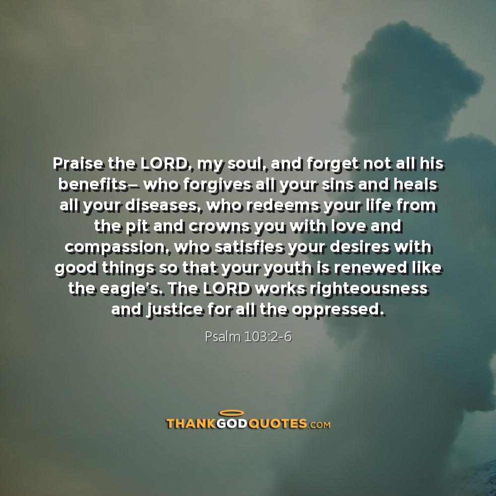 Psalm 103:2-6