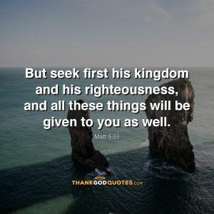 Matt 6:33