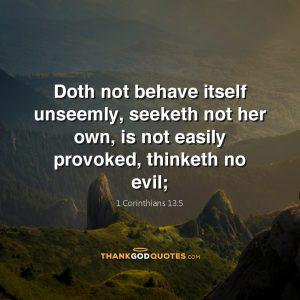 1 Corinthians 13:5