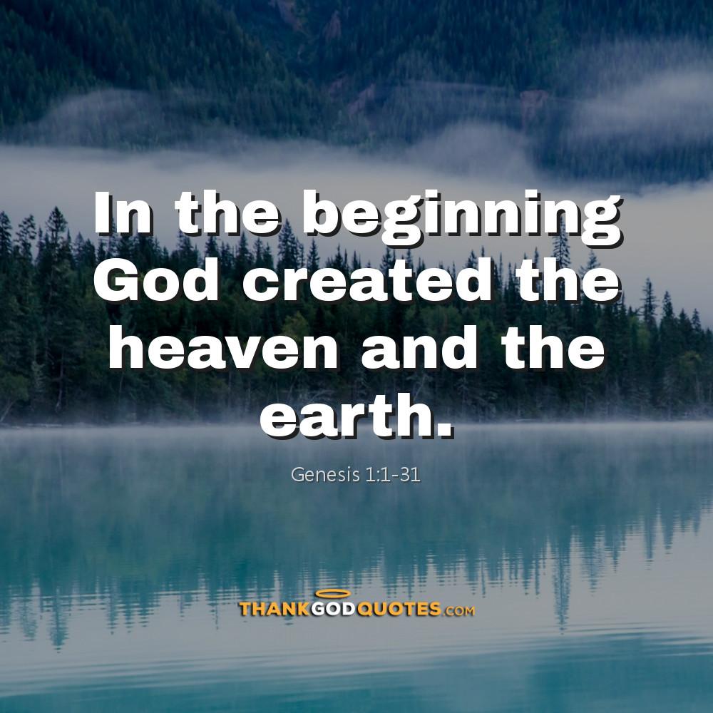 Genesis 1:1-31