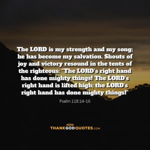Psalm 118:14-16